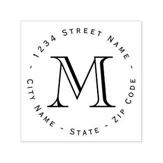 Monogram Return Address Self-inking Stamp