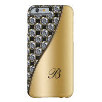 Monogram Rhinestone Case Barely There iPhone 6 Case