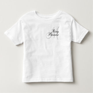 Monogram Ring Bearer Wedding T--Shirt Tee Shirt