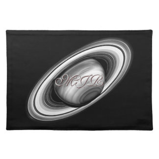 Monogram, Rings of Gas Giant Saturn - solar system Placemat