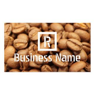 Monogram Roasted Coffee Beans Modern Coffee Business Card