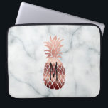 "monogram rose gold pineapple computer sleeve<br><div class=""desc"">monogram tropical fruit pineapple</div>"