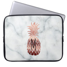 monogram rose gold pineapple computer sleeve