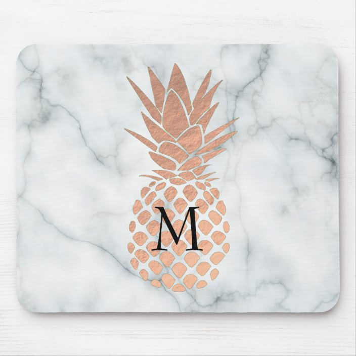 rose gold pineapple face cloth