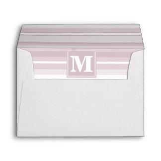 Monogram rose quartz stripes envelope