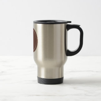 Monogram Round Cognac/White Dot Travel Mug