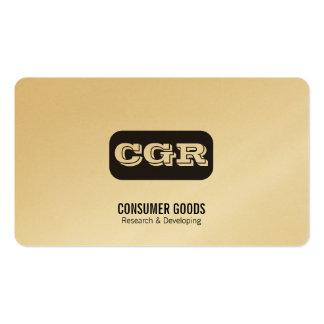 Monogram Rounded Background Variation Business Card