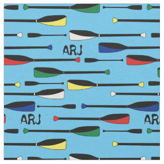 Monogram Rowing Oars Fabric