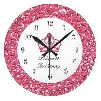 Monogram Royal Princess Jewel Wall Clock