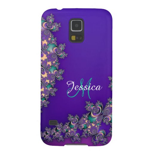 Monogram Royal Purple Fractal Galaxy S5 Case