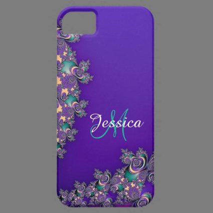 Monogram Royal Purple Fractal iPhone Case iPhone 5 Covers