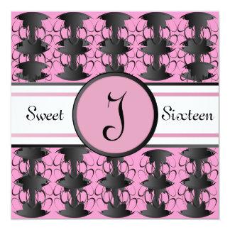 Monogram Royal Seal Filigree Sweet Sixteen -Cust, Card