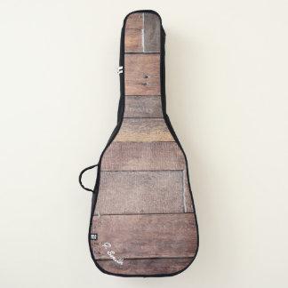 Monogram.Rustic Dark Wood Panel. Guitar Case