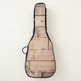 Monogram. Rustic Light Wood Panel. Guitar Case