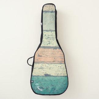 Monogram. Rustic Weathered Beach Wood Panels. Guitar Case