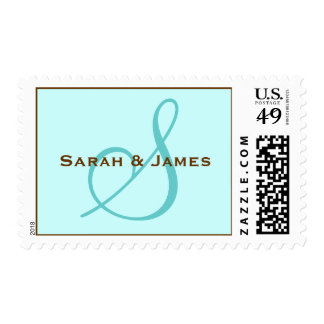 Monogram S and First Names Postage