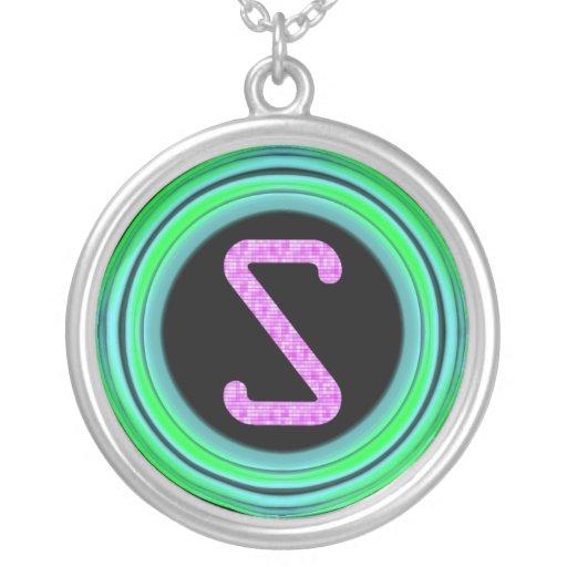 """Monogram """"S"""" Custom Necklace"""