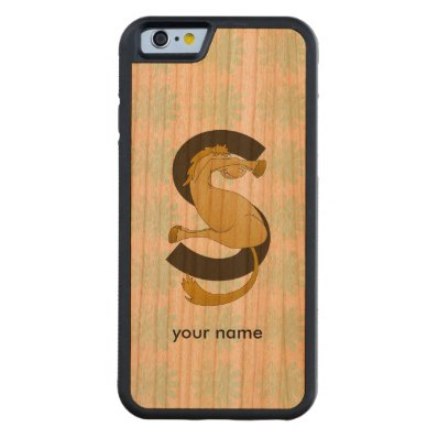 Monogram S Flexible Horse Personalised Carved® Cherry iPhone 6 Bumper Case