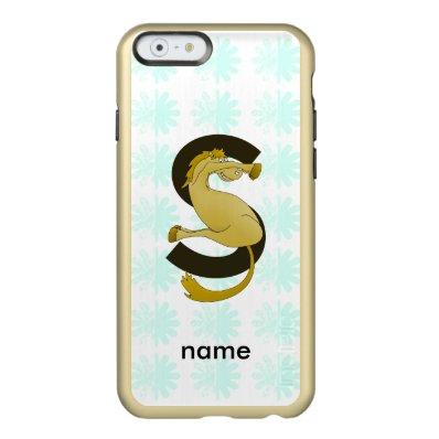 Monogram S Flexible Horse Personalised Incipio Feather® Shine iPhone 6 Case