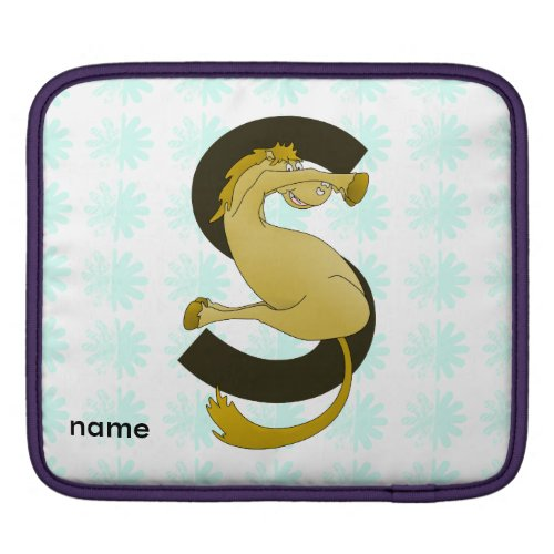 Monogram S Flexible Horse Personalised iPad Sleeves