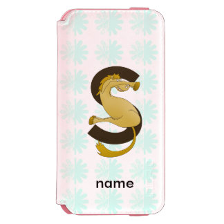 Monogram S Flexible Horse Personalised iPhone 6/6s Wallet Case