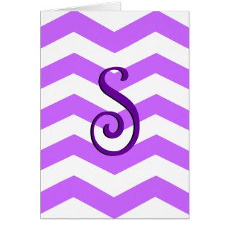 "Monogram ""S"" Note Cards"
