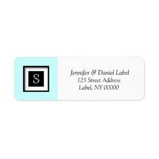 Monogram S Personalized Return Address Label