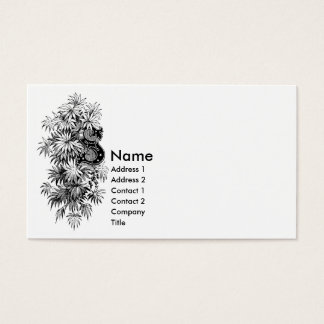 Monogram S with Palmetto Leaves Business Card