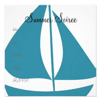 Monogram Sail Boat Custom Invite