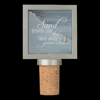 Monogram Sand Between Your Toes Beach Quote Wine Stopper