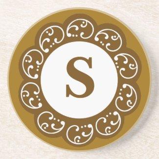 Monogram Sandstone Coaster coaster