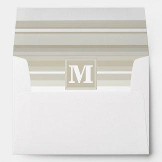 Monogram sandstone stripes envelope
