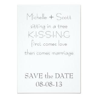 Monogram Save the Date 5x7 Paper Invitation Card