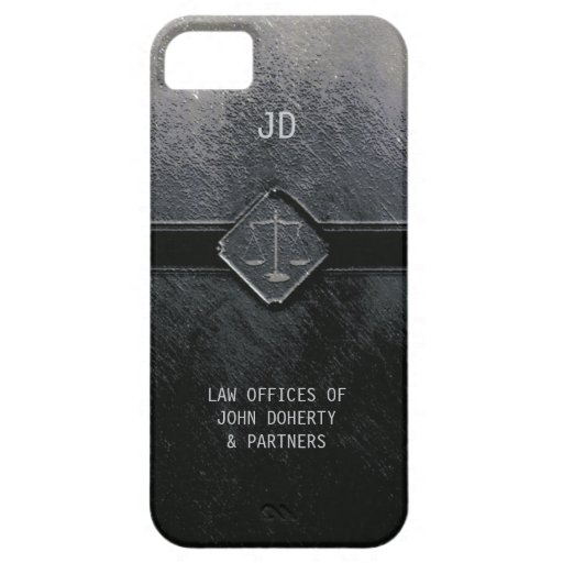 Monogram Scales of Justice iPhone 5 Covers