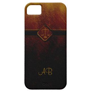 Monogram Scales of Justice iPhone SE/5/5s Case