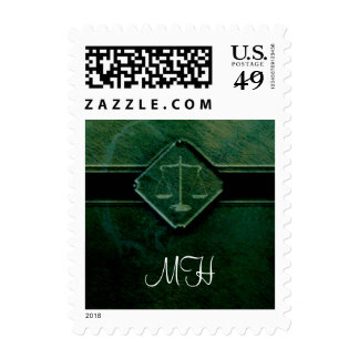 Monogram Scales of Justice - Postage