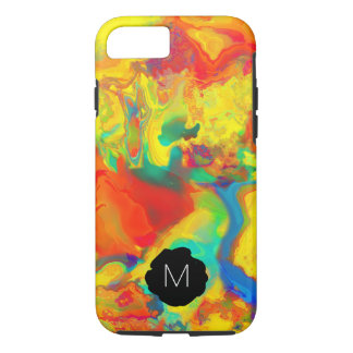 Monogram Screaming Yellow Oil and Water Don't Mix iPhone 8/7 Case