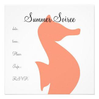 Monogram Seahorse Invites