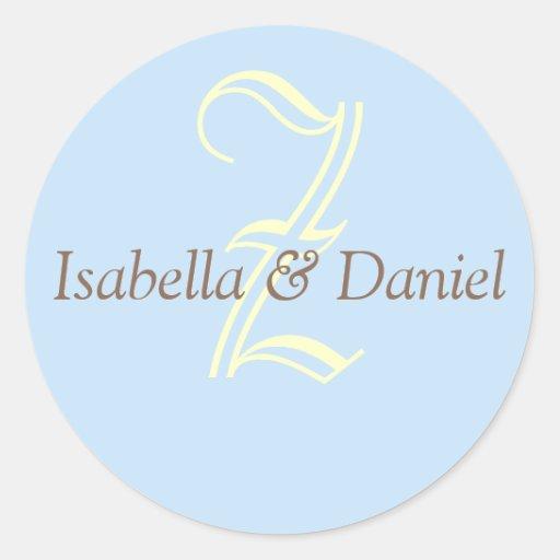 Monogram Seal Wedding Monogram Sticker