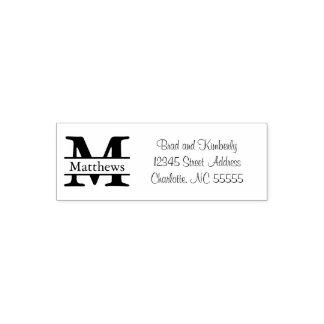 Monogram - Self Inking Address Stamp