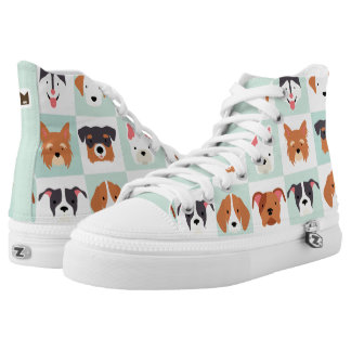 Monogram Series: Dog Profiles. High-Top Sneakers