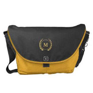 Monogram Series: Gold Wheat Laurel Courier Bag