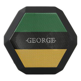 Monogram Series: Green and Yellow. Black Bluetooth Speaker