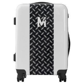 Monogram Series: Industrial Metal Plate. Luggage