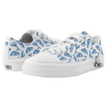 Monogram Series: Kawaii Cute Blue Whales. Low-Top Sneakers