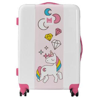Monogram Series: Kawaii Cute Magical Unicorn. Luggage