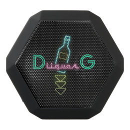Monogram Series: Liquor Neon Sign. Black Bluetooth Speaker
