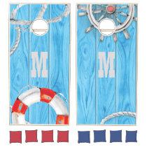 Monogram Series: Nautical. Sailor. Cornhole Set