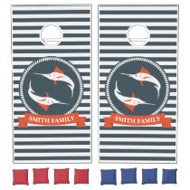 Monogram Series: Nautical. Sword Fish. Cornhole Set