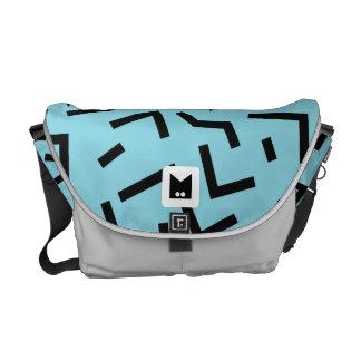 Monogram Series: Retro Eighties Geometric Messenger Bag